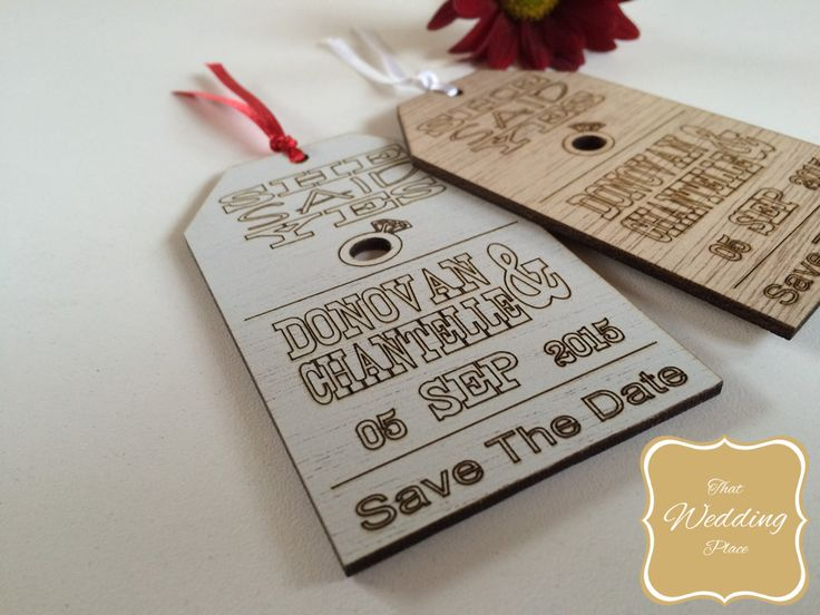 Wedding Save The Date - Tag