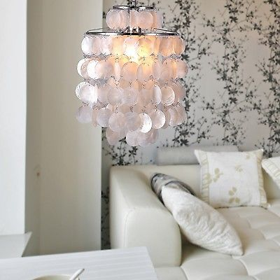 Mini-Style-White-Sea-Shell-Pendant-Chandelier-For-Bedroom-Living-Room