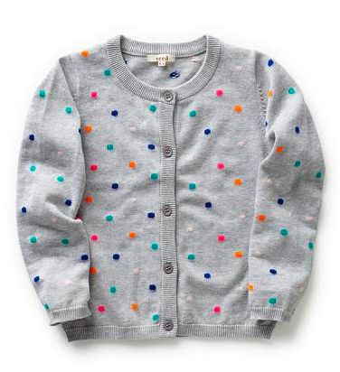 I've had the worst thing about this little cardi from Seed Heritage ever since I first saw it and was disappointed it didn't come in adult sizes. Love those polka dots!