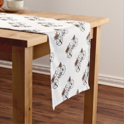 Antique bicycle short table runner - antique gifts stylish cool diy custom