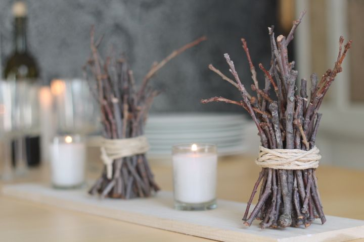 Twig bundle decorations