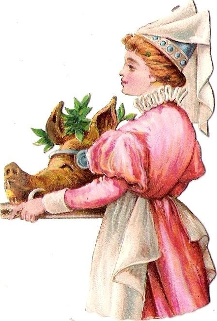 Oblaten Glanzbild scrap die cut chromo  Dame lady femme Köchin cooking cuire