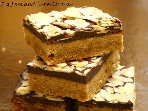 Silver Palate Toffee Bars   Fig Jam and Lime Cordial
