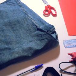 recyclage un sac main r aliser avec un vieux jeans diy avec du tissu de la feutrine. Black Bedroom Furniture Sets. Home Design Ideas