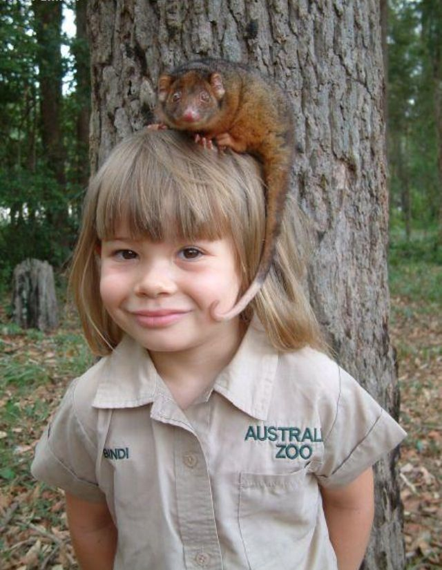 Little Bindi Irwin and friend.  v@e.