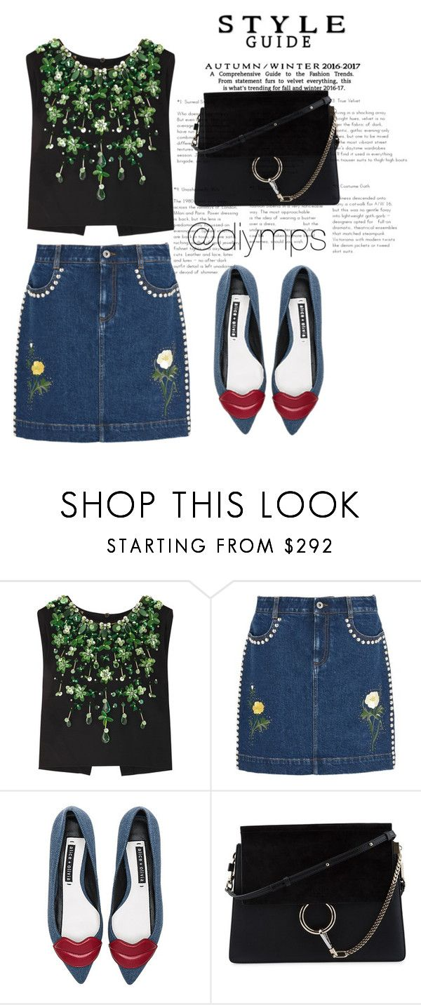 """""""🤔"""" by diymps on Polyvore featuring Miu Miu, STELLA McCARTNEY, Alice + Olivia and Chloé"""
