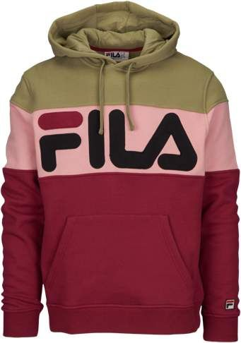 d2d1331e Fila Flamino Fleece Hoodie - Mens - Tibetan Red/Dry Grass/Pink ...