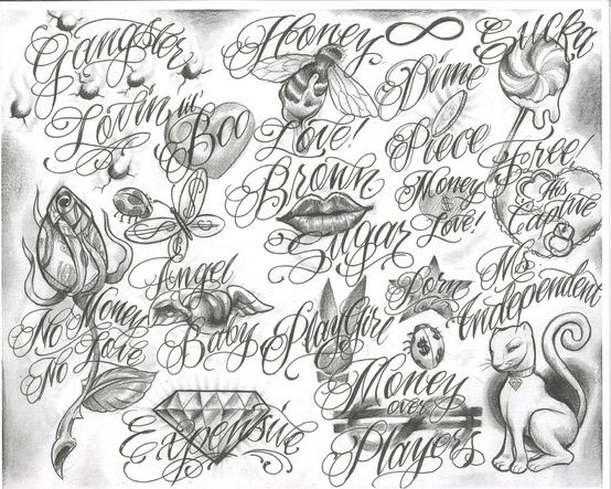 29 Best Images About Tattoo Lettering On Pinterest Fonts