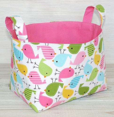 Sturdy fabric storage bin. I could use about a dozen of these.