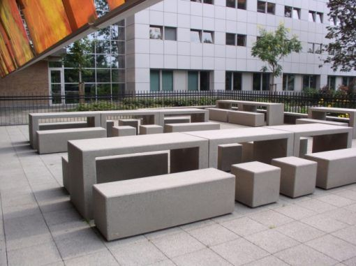 07 Mago Urban – Portic Table & Tetris Benches | Moodie Outdoor Products