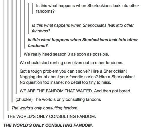 The sherlock fandom