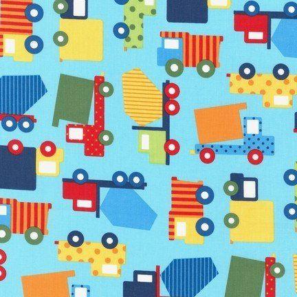Tela patchwork camiones Coloridos camiones para las aventuras sobre ruedas de los más pequeños.   TIPO DE TELA: Tela patchwork de importación (USA). COMPOSICIÓN: 100% algodón de primera calidad ANCHO: 112 cm TAMAÑO ESTAMPADO: El camión amarillo de lunares mide 6 cm de ancho. COLOR FONDO: Azul USO: Es ligera, ideal para patchwork, confección, decoración y otros proyectos de costura.