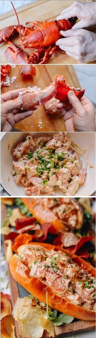 Lobster Roll with Crispy Ginger and Scallion recipe by the Woks of Life