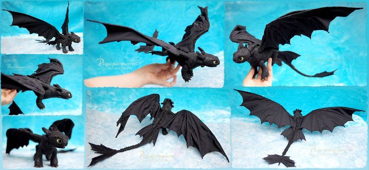 Toothless the Night Fury - Felt Art Doll by Piquipauparro.deviantart.com on @DeviantArt