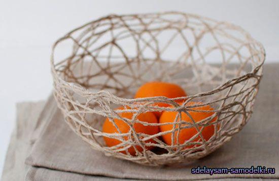 10 Inspirational Home DIY Ideas - Decorative vase from yarn