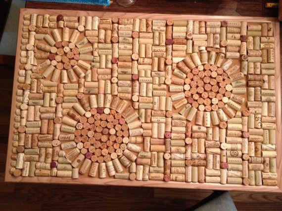 Wine Cork Art Board by IVivaVino on Etsy, $50.00