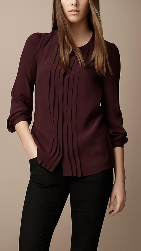 Pleat-Front Crepe Shirt | Burberry