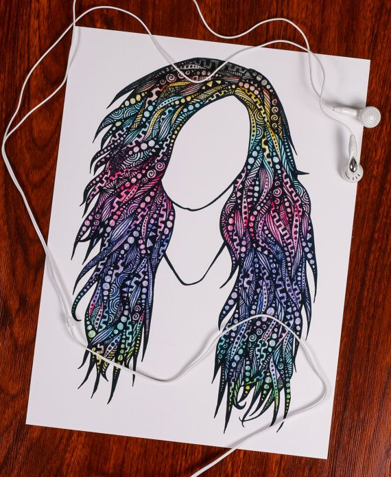 Zentangle Miss Demi Lovato by ZenspireDesigns on Etsy
