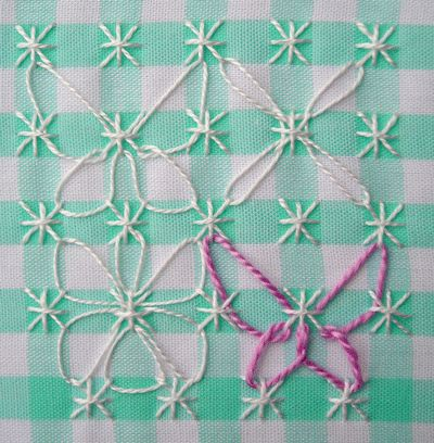 Broderie Suisse / Swiss Embroidery / Chicken Scratch - Stitch Image - Butterfly