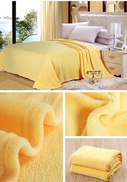 Svetlo žlté deky na sedačky