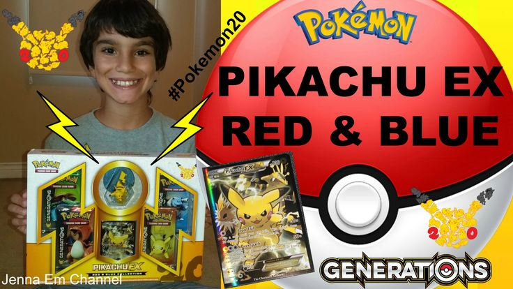Pokemon Pikachu EX Red & Blue Collection Generations box! Jenna Em Chann...