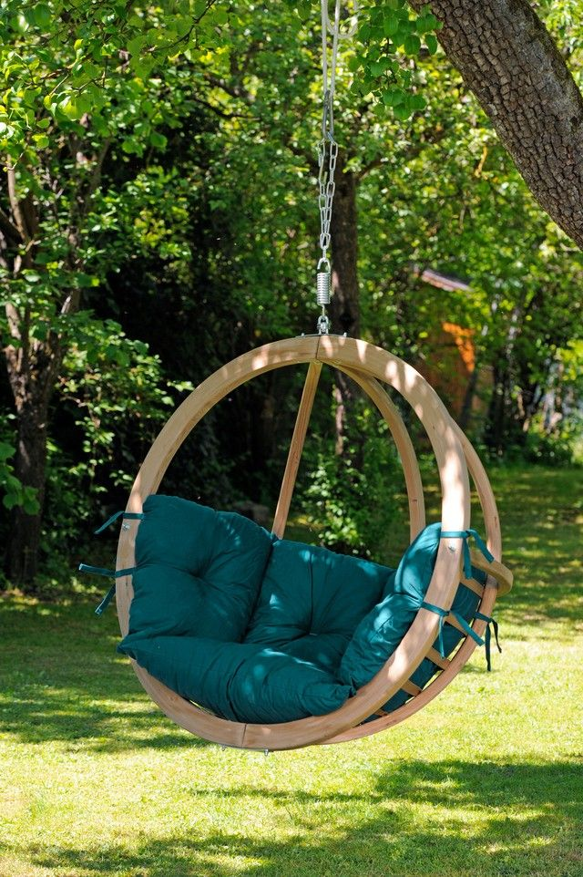 Hangstoel 'Globo' green - Hangmat Gigant
