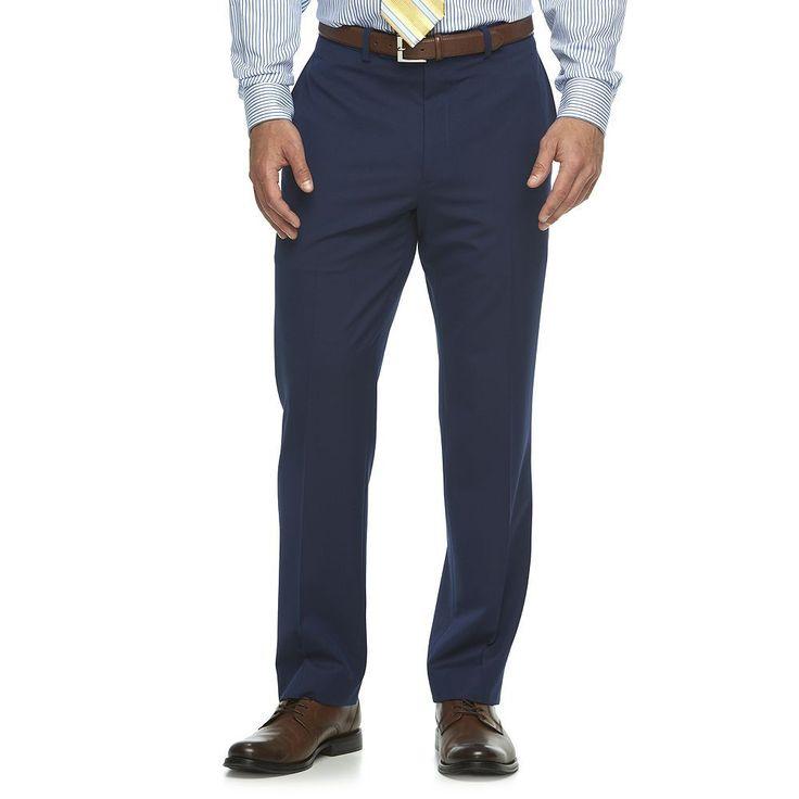 Men's Van Heusen Flex Slim-Fit Suit Pants, Size: 42X30, Blue (Navy)