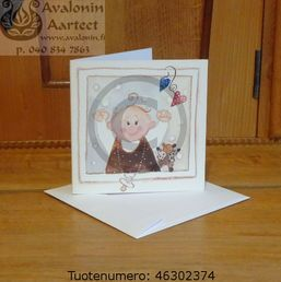 Minna Immonen baby card / Minna Immosen vauvakortti