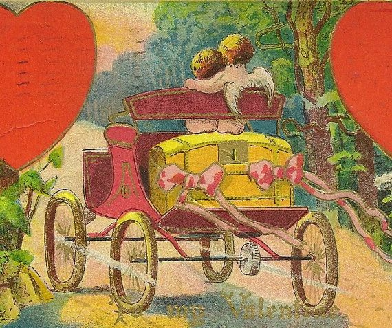 Embossed Romantic Vintage Valentines Day by TheOldBarnDoor on Etsy