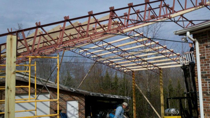 17 best ideas about steel trusses on pinterest polished for Clear story roof design
