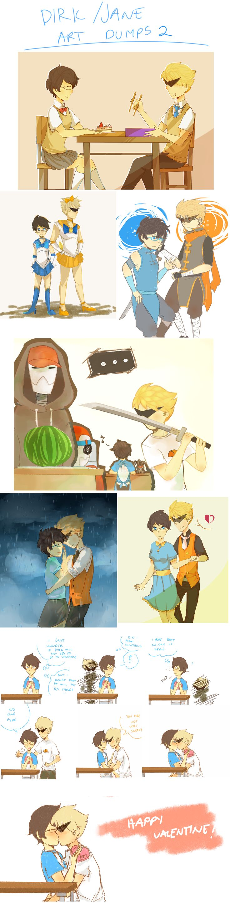 Homestuck Dirk And Jane
