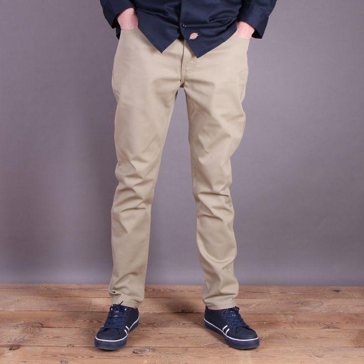 Beżowe spodnie Dickies WP810 Slim Skinny Pant British Tan / www.brandsplanet.pl / #dickies streetwear