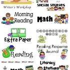 2x4 sized labels to use for your student folders and spirals. This set has labels for Math, Reading, Science, and more....