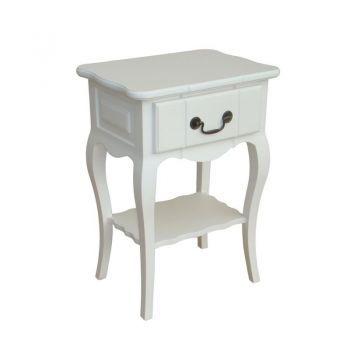 Noptieră albă cu sertar Irene vintage #noptiere #noptierevintage #mobiladormitor #dormitor #bedroom #vintagebedsidetable #bedsidetable #DecoStores #homedecor #decoratiuniinterioare