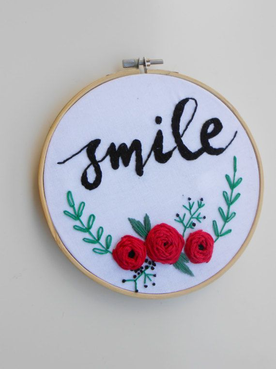 embroidery hoop art hand embroidery wall hanging by CottonCraftArt