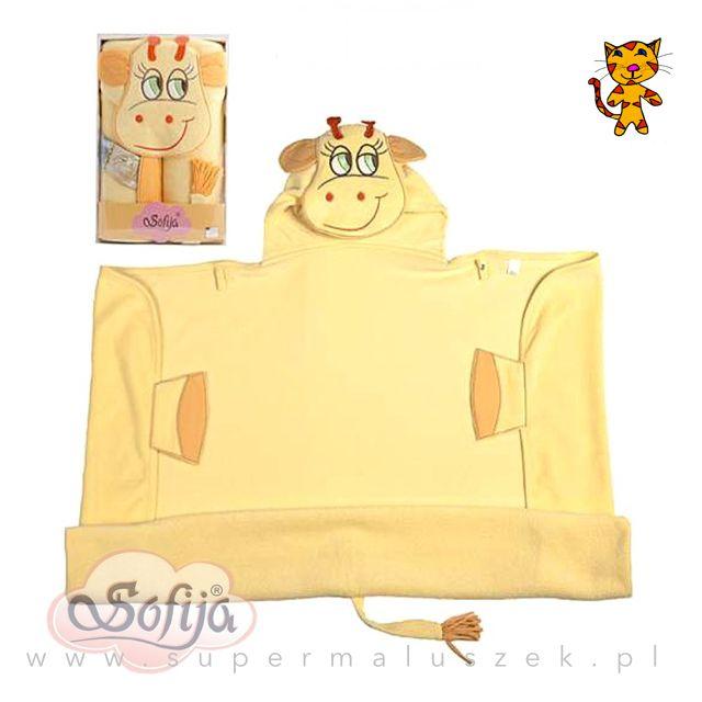Twoje dziecko lubi zwierzątka? Spraw mu radość i podaruj ręcznik z główkąwesołej żyrafki i ogonkiem. #supermaluszek #okryciekąpielowe #dziecko #kąpiel