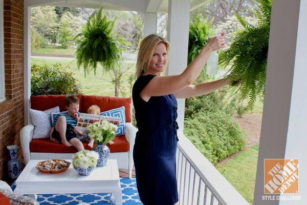 Front porch ideas southern charm with mediterranean color for Front porch makeover ideas