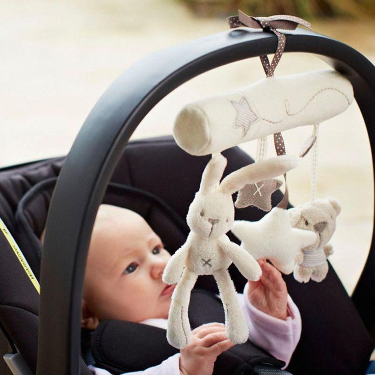 Music Plush Rattles Crib Stroller Mamas Hanging Baby Rabbit Star Shape Plush Toys Cute Baby Bed Hanging Doll Prams Bunny Mobi LB