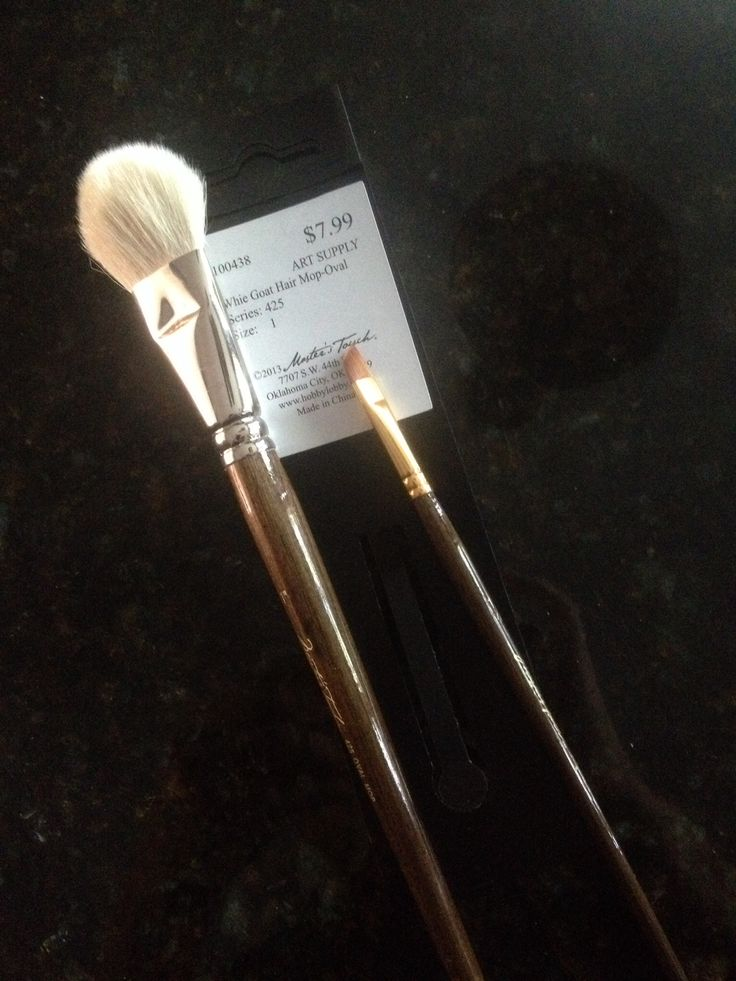 Why pay for expensive make up brushes when you can buy these beautiful brushes for a fraction of the cost on sale at your nearest Hobby Lobby???
