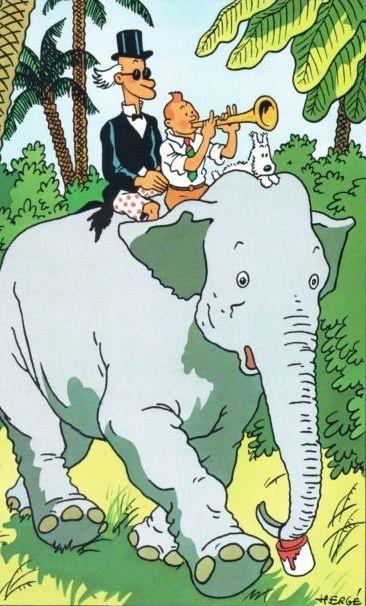 Tintin, Milou et le professeur Siclone