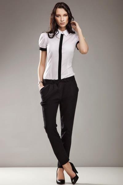 Чёрные брюки для девушки