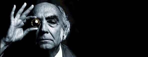 "José Saramago  ""A human being is a being who is constantly 'under construction,' but also, in a parallel fashion, always in a state of constant destruction"""