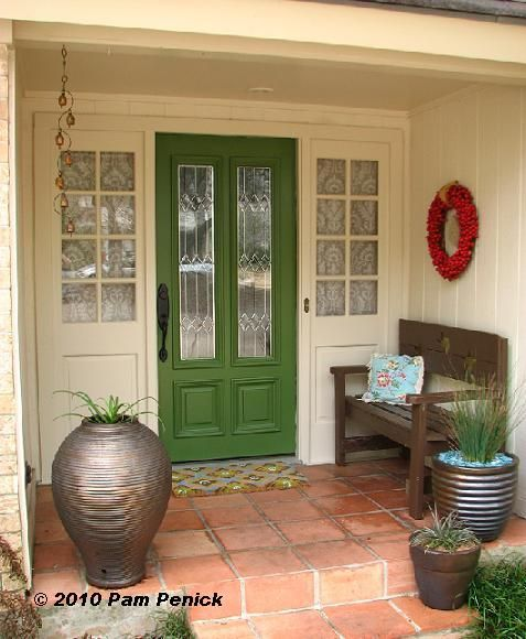 green front door color ideas