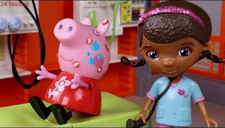 Peppa Pig Juguetes en español 💗 Peppa tiene varicela