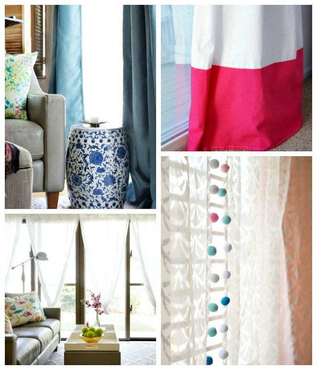 Creative and Cheap Window Treatments for Custom Lengths