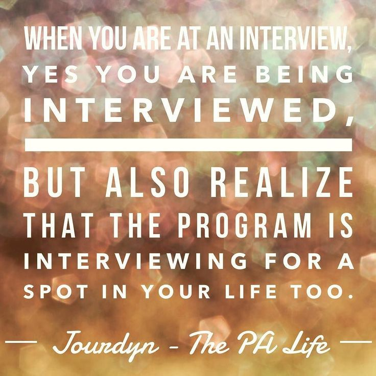 Jourdyn from @thepa_life did a guest post on my blog recently about how to choose the right PA school and I love this quote she included. As interview season gets started try to keep this in mind. When I'm coaching students through mock interviews I always try to make this point as well. When you go into an interview for a PA program just keep in mind that you're interviewing the program too. If you get a bad vibe or you feel uncomfortable at an interview you may want to reconsider your…