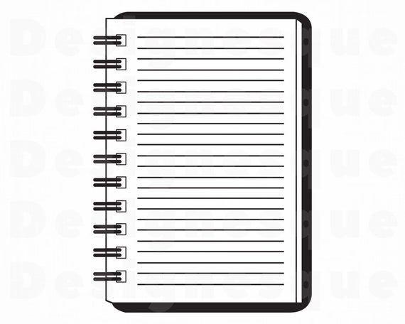 Notebook Svg School Svg Notepad Svg Homework Svg Diary Etsy Svg Note Pad Clip Art