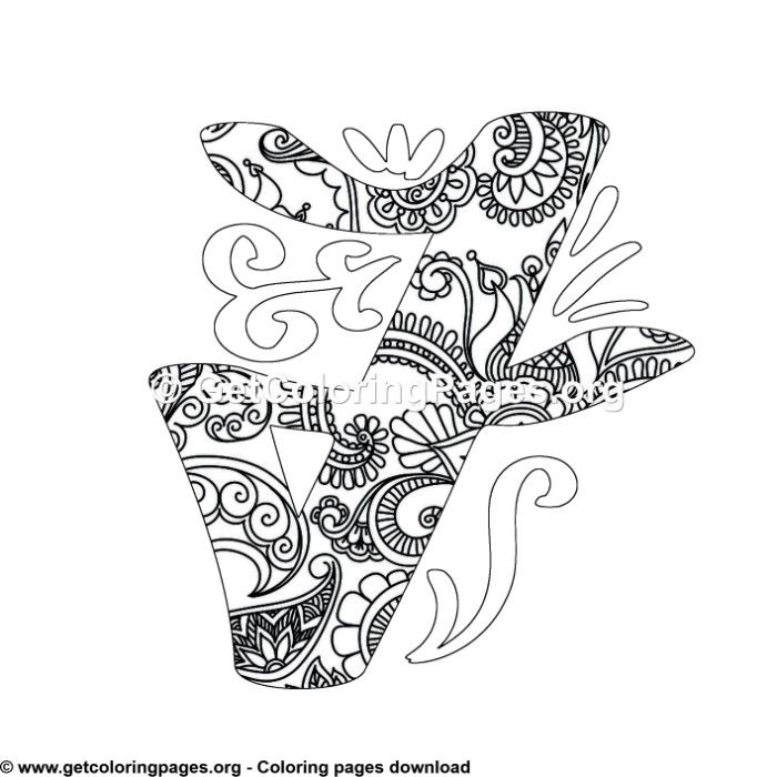 Free Printable Coloring Pages For Adults Pdf Getcoloringpages Org Mandala Coloring Pages Monogram Alphabet Unicorn Coloring Pages