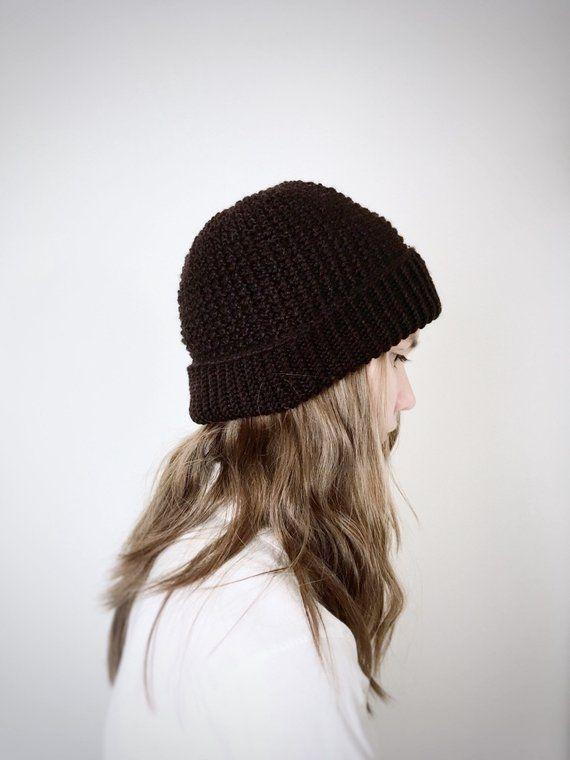 76baf7daf46 Women s Beanie Hat for Fall and Winter in Dark Coffee Brown Silk ...