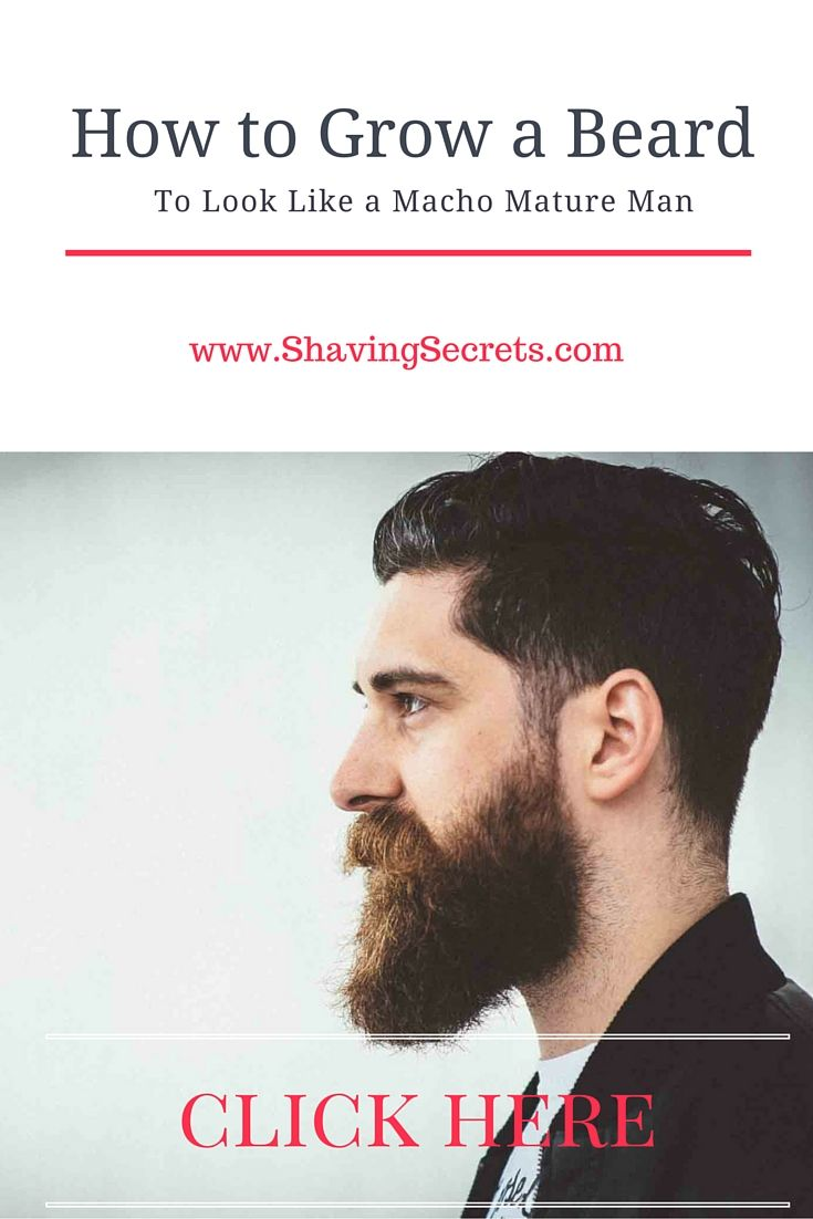 How To Grow A #beard At 16 To Look Like A #macho Mature Man